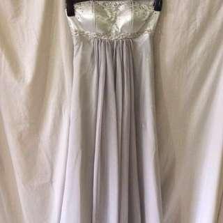 Formal Silver Gown // Ballgown
