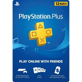 [USA] 1 Year PlayStation Plus Membership - PS3/ PS4/ PS Vita [Digital Code]