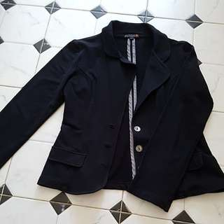 G by Guess Cotton Black Blazer