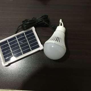 solar with led bulb
