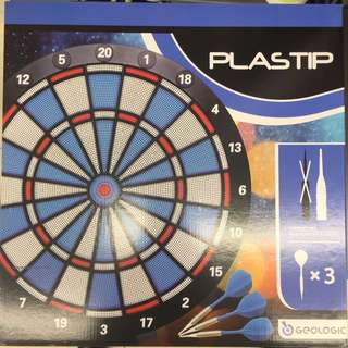 GEOLOGIC Dartboard for soft tip Darts (Brand New)| Comes with 3 x soft tip darts