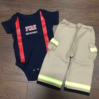Baby Firefighter outfit bodysuit (12 months)