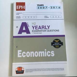 A Level H2 Economics TYS 2007-2016