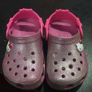 Crocs Hello Kitty Glitter Clogs