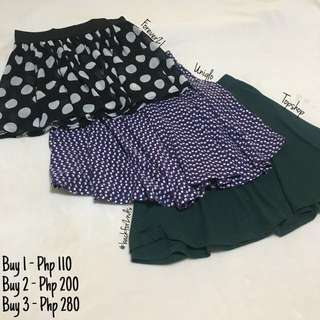 Skirts: Forever 21, Uniqlo, Topshop