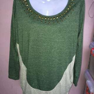 moss green bohemian top