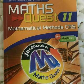 VCE 11 Maths Quest Mathematical Methods CAS