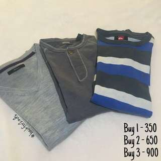 Long Sleeves: Kenneth Cole, G2000, Quiksilver (with freebie)