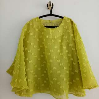 Blouse Ruby, Lime Green