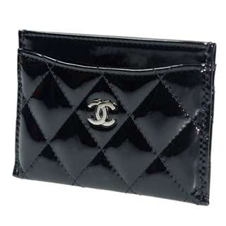 CHANEL Beauty VIP Gift 貴賓禮品 Black 黑色仿漆皮 Card Holder 可放八達通, 信用卡