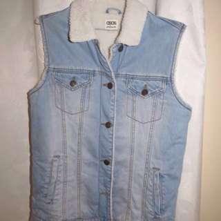 ASOS Jeans Denim Vest Wool