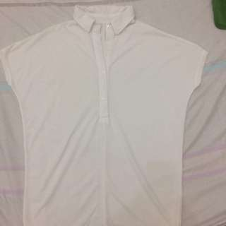 white long polo shirt