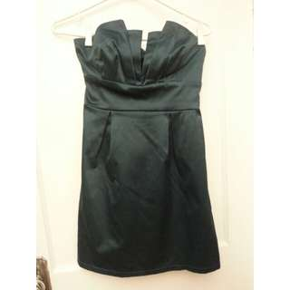 Dark Teal Strapless Dress