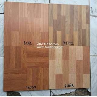 Lantai vinyl tile borneo banyak warna