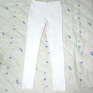 Celana Panjang Slim Putih Highwaist