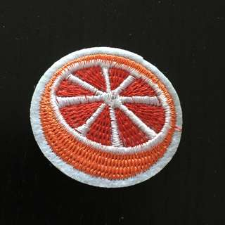 Red Lemon Iron on Patch, Embroidered Sew on Patch, Embroidered Patch, Red Lemon Patch, Red Lemon Clothing Sticker, Cool & funky Sticker