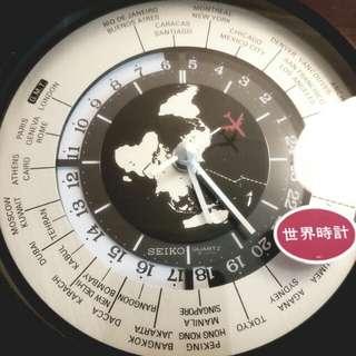 全新Seiko精工世界時鐘石英座鐘