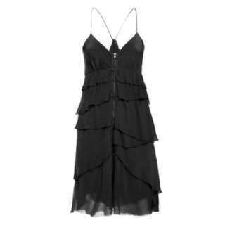 Aritzia Wilfred Black Washed Silk Dress Sz 6, NWT