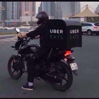 Ubereats rider (motorbike only)