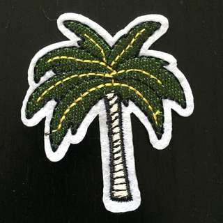 Coconut Tree Iron on Patch, Embroidered Sew on Patch, Embroidered Patch, Palm Tree Patch, Tree Clothing Sticker, Coconut Tree Clothing