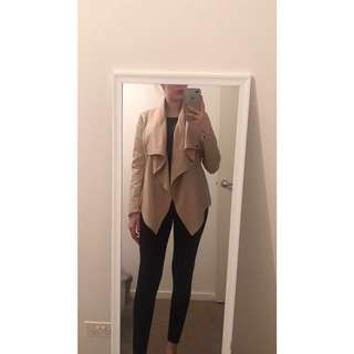 Bardot waterfall nude jacket
