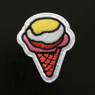 Ice cream Iron on Patch, Embroidered Sew on Patch, Embroidered Patch, Cool & Trendy Patch, Ice Cream Patch, Ice Cream Clothing
