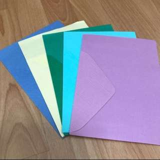 Brand New thick colourful paper with envelope