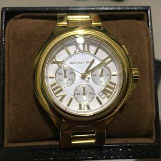 *REPRICED* MK Camille Chronograph watch yellow-gold tone (MK5635)