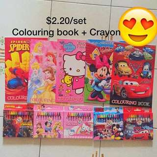 COLOURING BOOK AND CRAYON SET/ GOODIE BAG