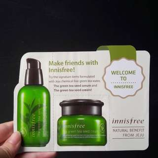 Innisfree green tea seed leaflet pouch