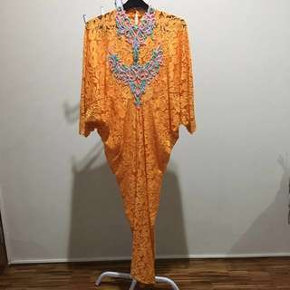 Kaftan Lace With Swarowski Beads