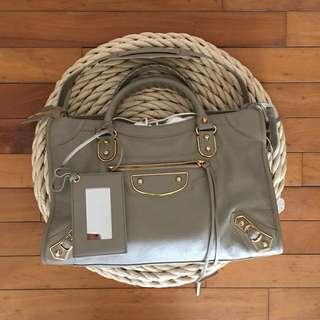 Balenciaga city metallic edge handbag