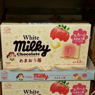Milky牛奶妹草莓醬夾心白朱古力