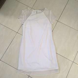 Zara trf white dress
