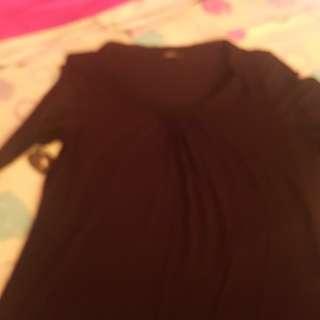 ***REPRICED***M&S 3/4 black blouse