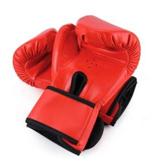Boxing Gloves Suten 1 Pair Pu Boxing Punching Bag Fighting Sanda Gloves With Wrist Wrap(Blackredblue) - intl