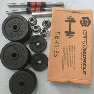 35Kg Cast Iron Dumbbell Set