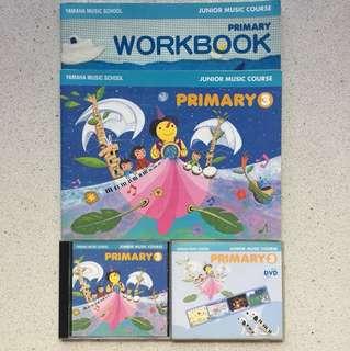 Yamaha JMC Primary 3 bundle (textbook, dvd, cd)