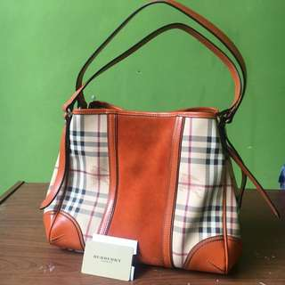 Soft brown Burberry hand bag