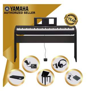 The Pianist Studio | Authorized Seller - Yamaha P-45 Digital Piano (Black) with Storage Bench with Gator Dust Cover GKC1648