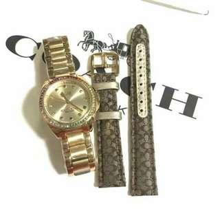 coach watch with extra strap