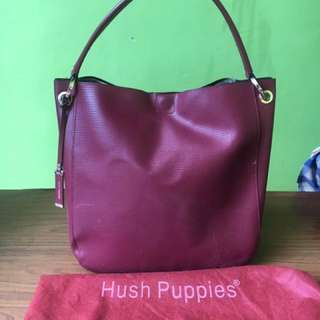 Hush puppies maroon handbag