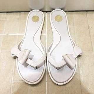 Melissa jelly flat sandal white