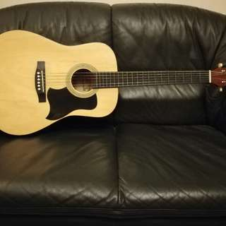 RJ Acoustic Guitar (w/ NEW strings and guitar case)
