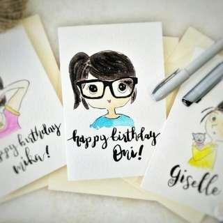 Customized Doodle Portrait With Brushletters