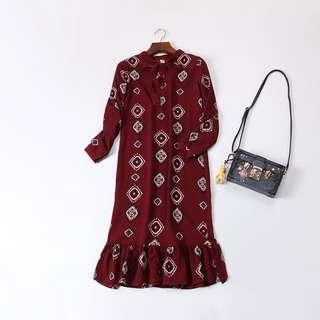 🚚 圖騰民族風連身魚尾洋裝