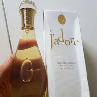 Dior j'adore dry silk body oil 150ml