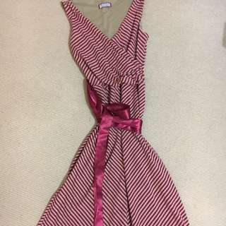 Review Red Stripes Dress