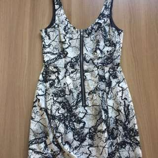 H&M printed dress (black and white)