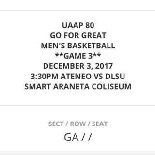 UAAP Game 3